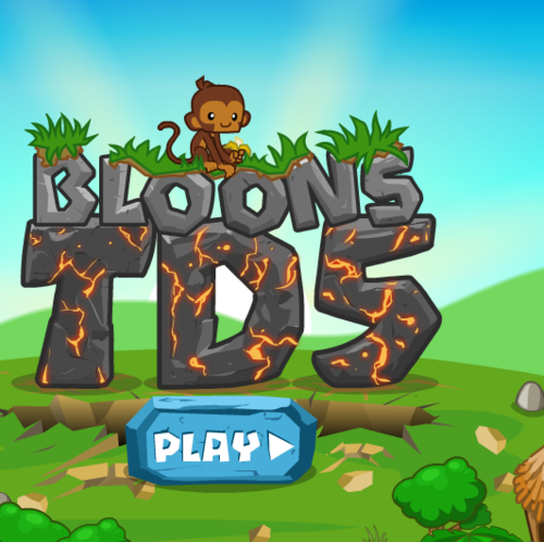 Play Bloons Tower Defense 5 and other versions as well ...