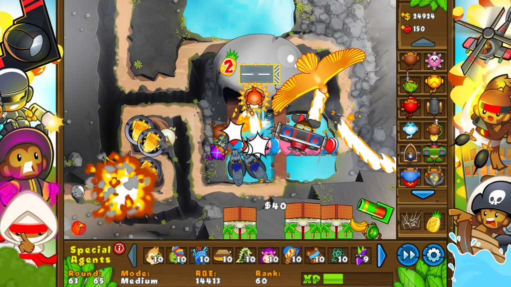 Play Bloons Tower Defense 5 and other versions as well